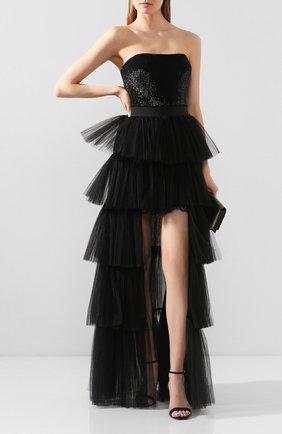 Женская юбка ZUHAIR MURAD черного цвета, арт. SKS20038/TUTU002 | Фото 2