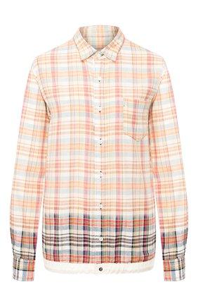 Женская хлопковая рубашка SACAI бежевого цвета, арт. 20-02278M | Фото 1