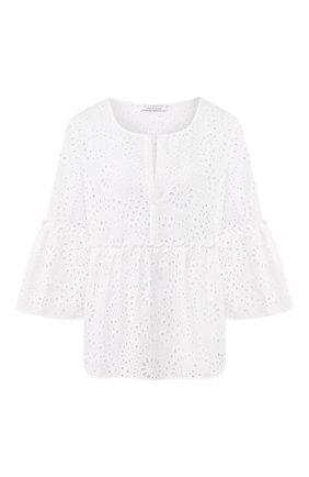Женская хлопковая блузка EVA B.BITZER белого цвета, арт. 10310634 | Фото 1