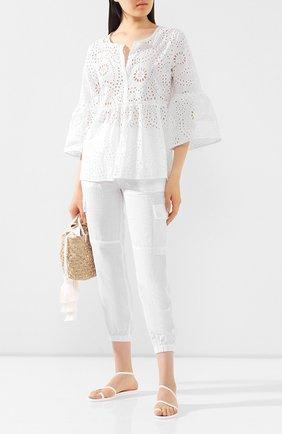 Женская хлопковая блузка EVA B.BITZER белого цвета, арт. 10310634 | Фото 2