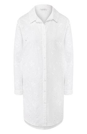 Женская хлопковая рубашка EVA B.BITZER белого цвета, арт. 10313269 | Фото 1