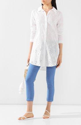 Женская хлопковая рубашка EVA B.BITZER белого цвета, арт. 10313269 | Фото 2