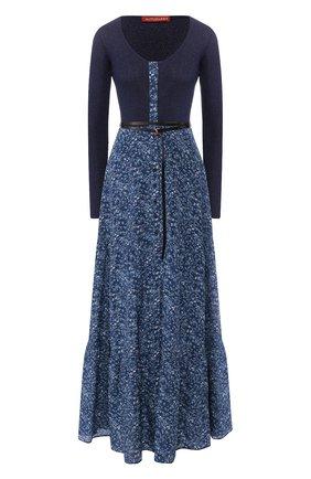 Женское платье-макси ALTUZARRA синего цвета, арт. 120-3002-BSP001 | Фото 1