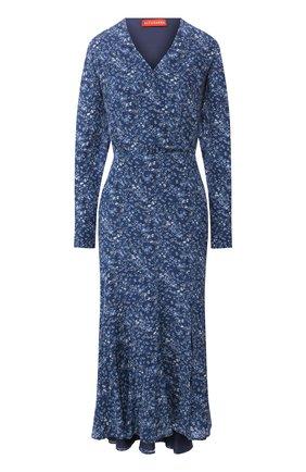 Женское шелковое платье ALTUZARRA синего цвета, арт. 120-3018-BSP001 | Фото 1