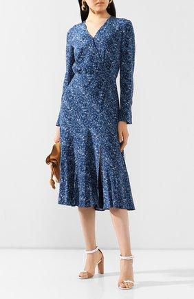 Женское шелковое платье ALTUZARRA синего цвета, арт. 120-3018-BSP001 | Фото 2