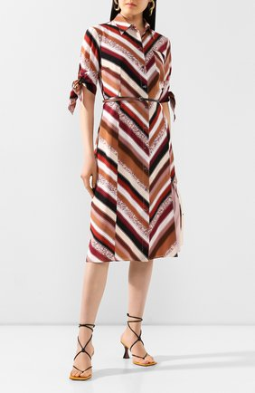 Женское шелковое платье ALTUZARRA коричневого цвета, арт. 120-3033-BSP001 | Фото 2