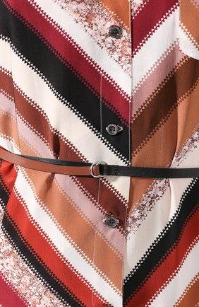 Женское шелковое платье ALTUZARRA коричневого цвета, арт. 120-3033-BSP001   Фото 5 (Материал внешний: Шелк; Случай: Повседневный; Длина Ж (юбки, платья, шорты): Миди; Материал подклада: Синтетический материал; Рукава: 3/4; Женское Кросс-КТ: Платье-одежда)