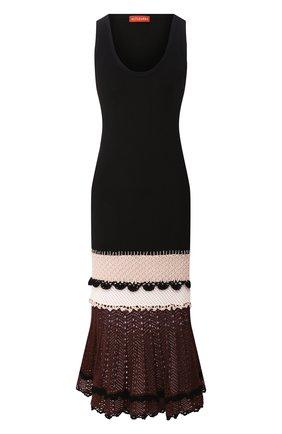 Женское платье ALTUZARRA черного цвета, арт. 220-3001-JYS001 | Фото 1