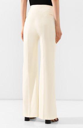 Женские шерстяные брюки ALTUZARRA светло-бежевого цвета, арт. 220-6013-AWS679   Фото 4 (Длина (брюки, джинсы): Удлиненные; Материал внешний: Шерсть; Женское Кросс-КТ: Брюки-одежда; Силуэт Ж (брюки и джинсы): Прямые)