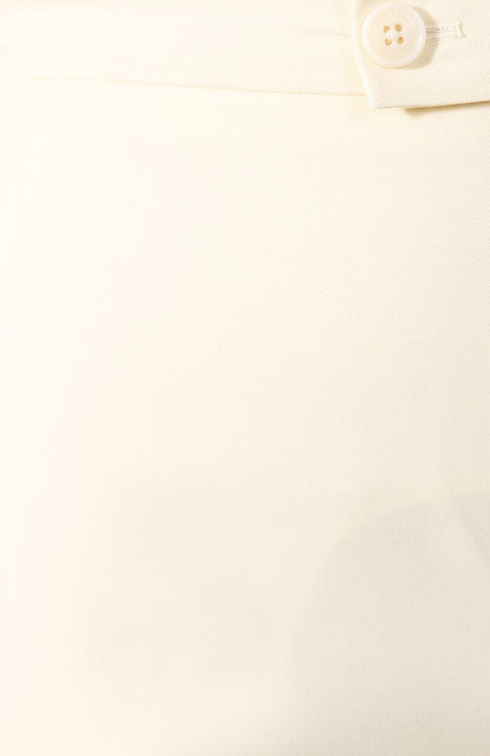 Женские шерстяные брюки ALTUZARRA светло-бежевого цвета, арт. 220-6013-AWS679   Фото 5 (Длина (брюки, джинсы): Удлиненные; Материал внешний: Шерсть; Женское Кросс-КТ: Брюки-одежда; Силуэт Ж (брюки и джинсы): Прямые)