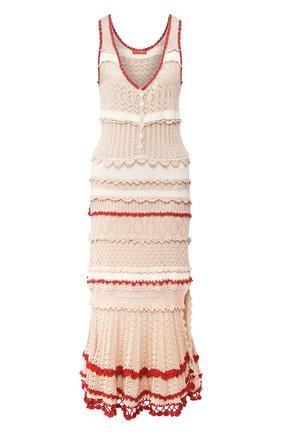 Женское хлопковое платье ALTUZARRA бежевого цвета, арт. 220-8303-KCS005 | Фото 1