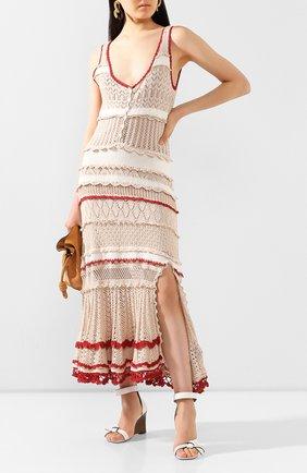 Женское хлопковое платье ALTUZARRA бежевого цвета, арт. 220-8303-KCS005 | Фото 2