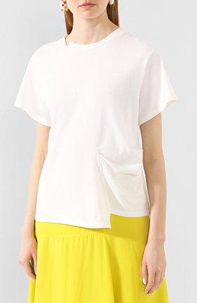 Женская хлопковая футболка REJINA PYO белого цвета, арт. C149K/C0TT0N JERSEY | Фото 3