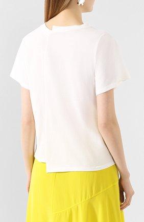 Женская хлопковая футболка REJINA PYO белого цвета, арт. C149K/C0TT0N JERSEY | Фото 4