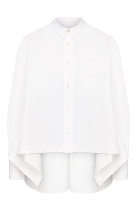 Женская рубашка SACAI белого цвета, арт. 20-04885 | Фото 1