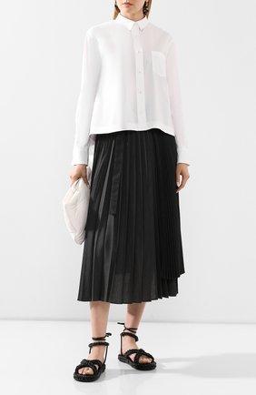 Женская рубашка SACAI белого цвета, арт. 20-04885 | Фото 2