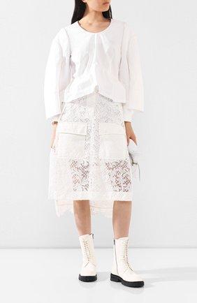 Женская юбка SACAI белого цвета, арт. 20-04940 | Фото 2
