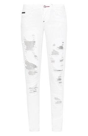 Женские джинсы PHILIPP PLEIN белого цвета, арт. P20C WDT1317 PDE004N | Фото 1