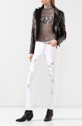 Женские джинсы PHILIPP PLEIN белого цвета, арт. P20C WDT1317 PDE004N | Фото 2