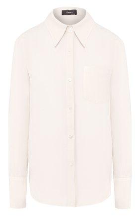 Женская льняная рубашка THEORY серого цвета, арт. K0403501   Фото 1