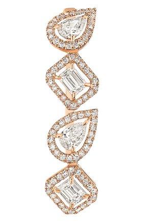Женские серьга-клипса MESSIKA розового золота цвета, арт. 10122-PG   Фото 1