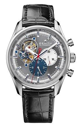 Мужские часы chronomaster 1969 anthracite ZENITH темно-серого цвета, арт. 03.2040.4061/23.C | Фото 1