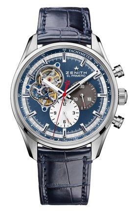 Мужские часы chronomaster 1969 blue ZENITH синего цвета, арт. 03.2040.4061/52.C | Фото 1