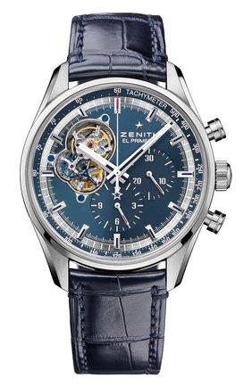 Мужские часы chronomaster blue chronograph ZENITH синего цвета, арт. 03.20416.4061/51.C   Фото 1