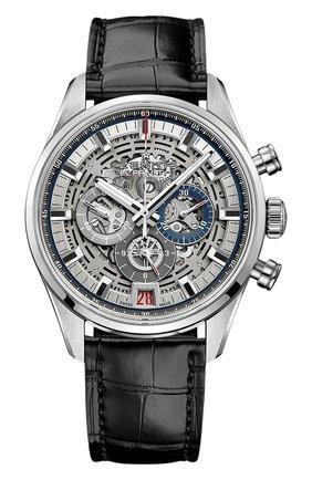 Мужские часы chronomaster el primero full open ZENITH серебряного цвета, арт. 03.2081.400/78.C | Фото 1