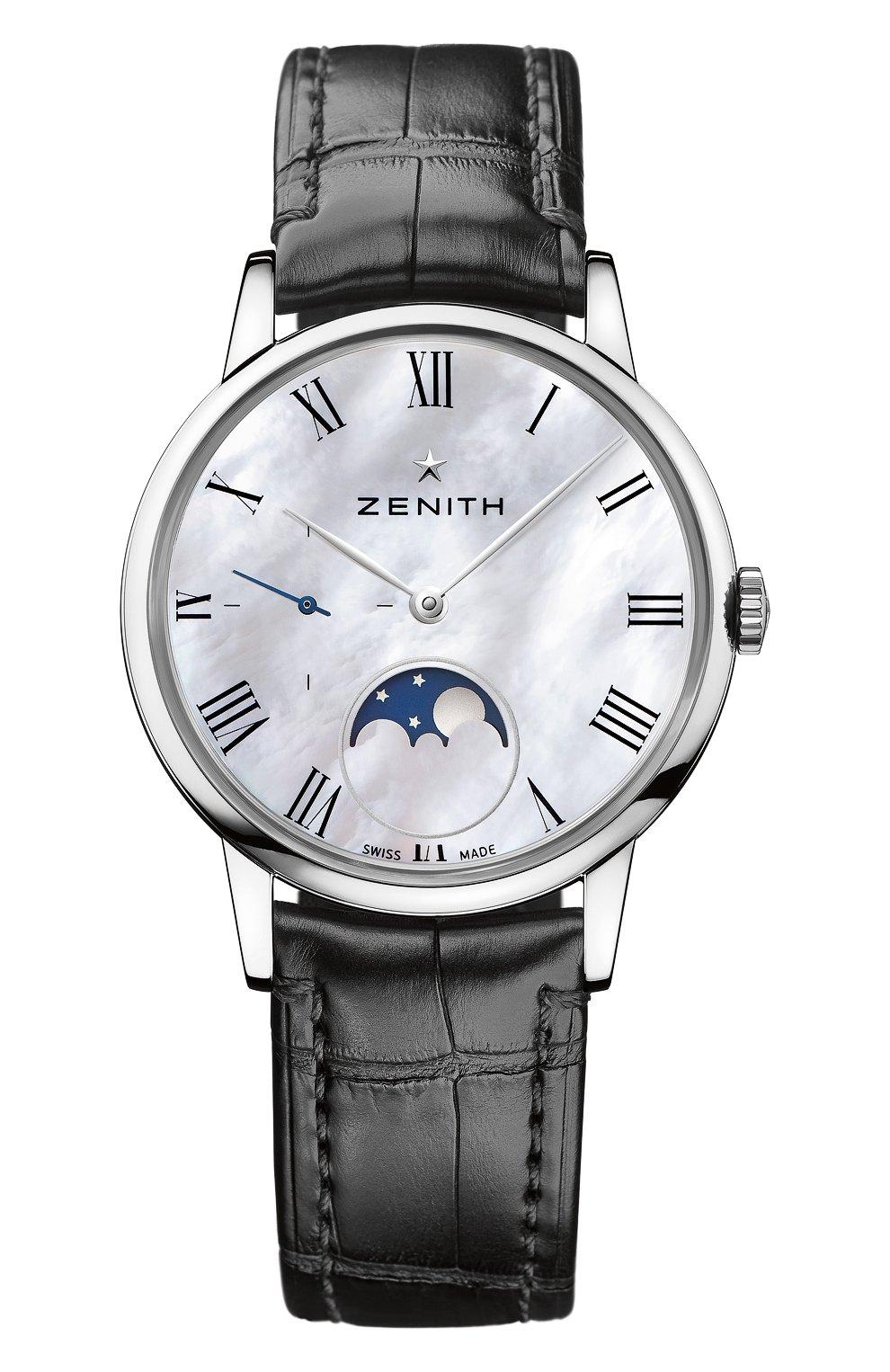 Женские часы ultra thin lady moonphase ZENITH перламутрового цвета, арт. 03.2320.692/81.C   Фото 1
