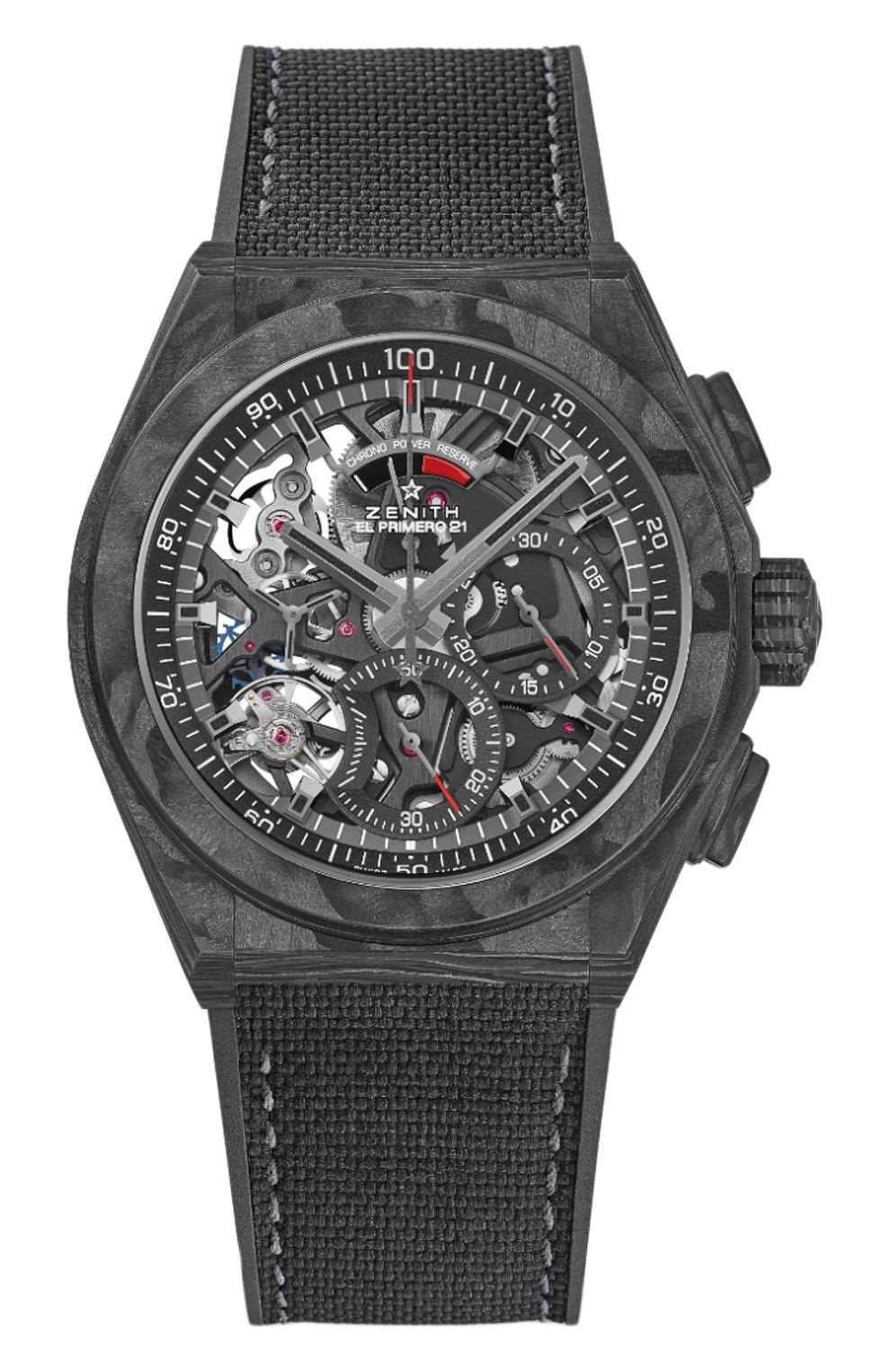 Мужские часы defy el primero 21 ZENITH черного цвета, арт. 10.9000.9004/96.R | Фото 1