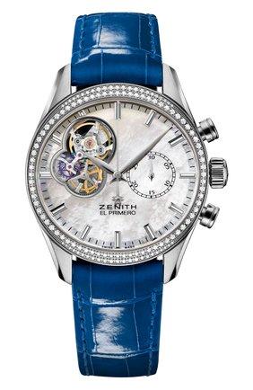 Женские часы chronomaster lady blue ZENITH перламутрового цвета, арт. 16.2150.4062/81.C | Фото 1