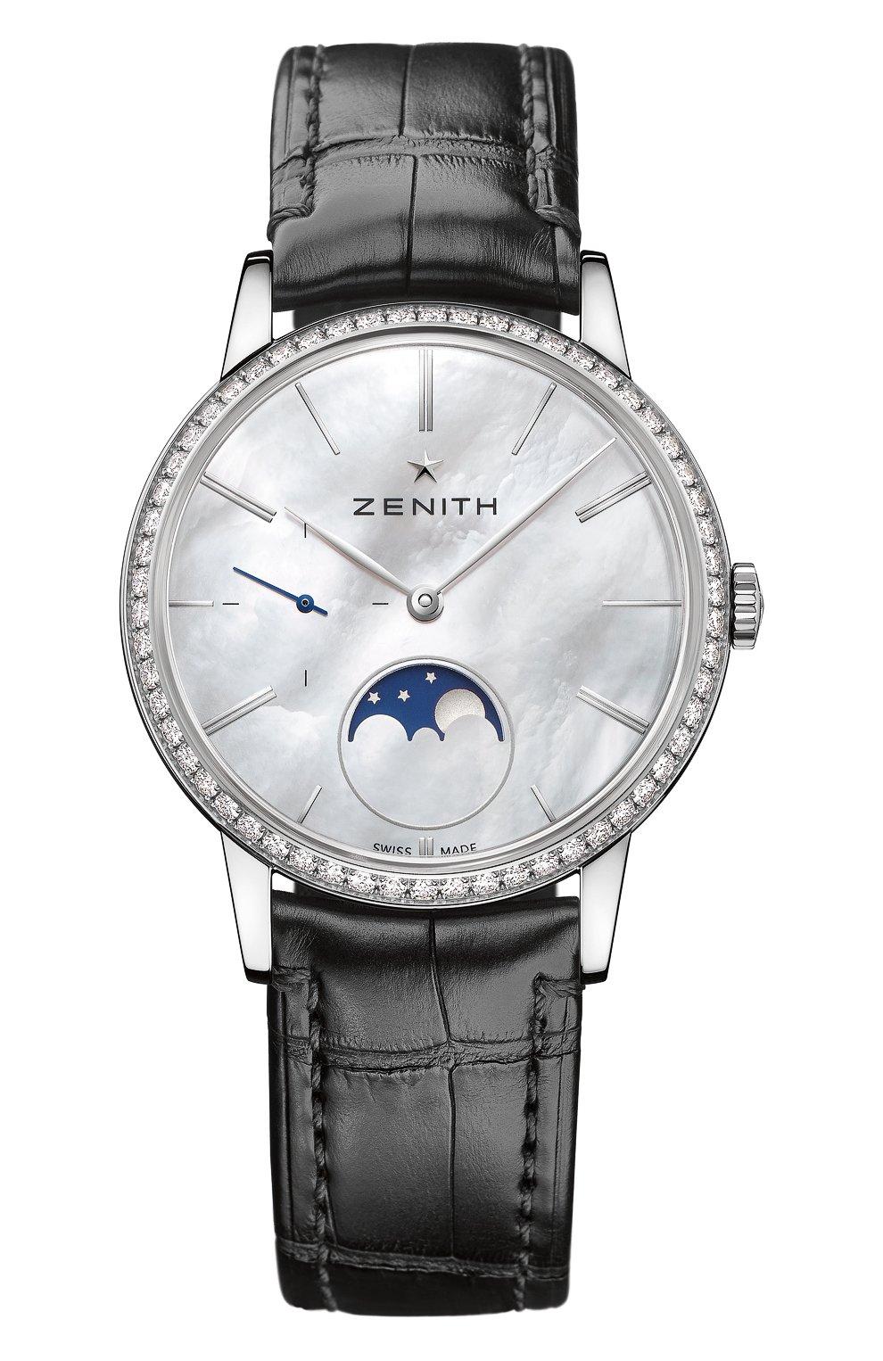 Женские часы lady moonphase ZENITH перламутрового цвета, арт. 16.2320.692/80.C | Фото 1