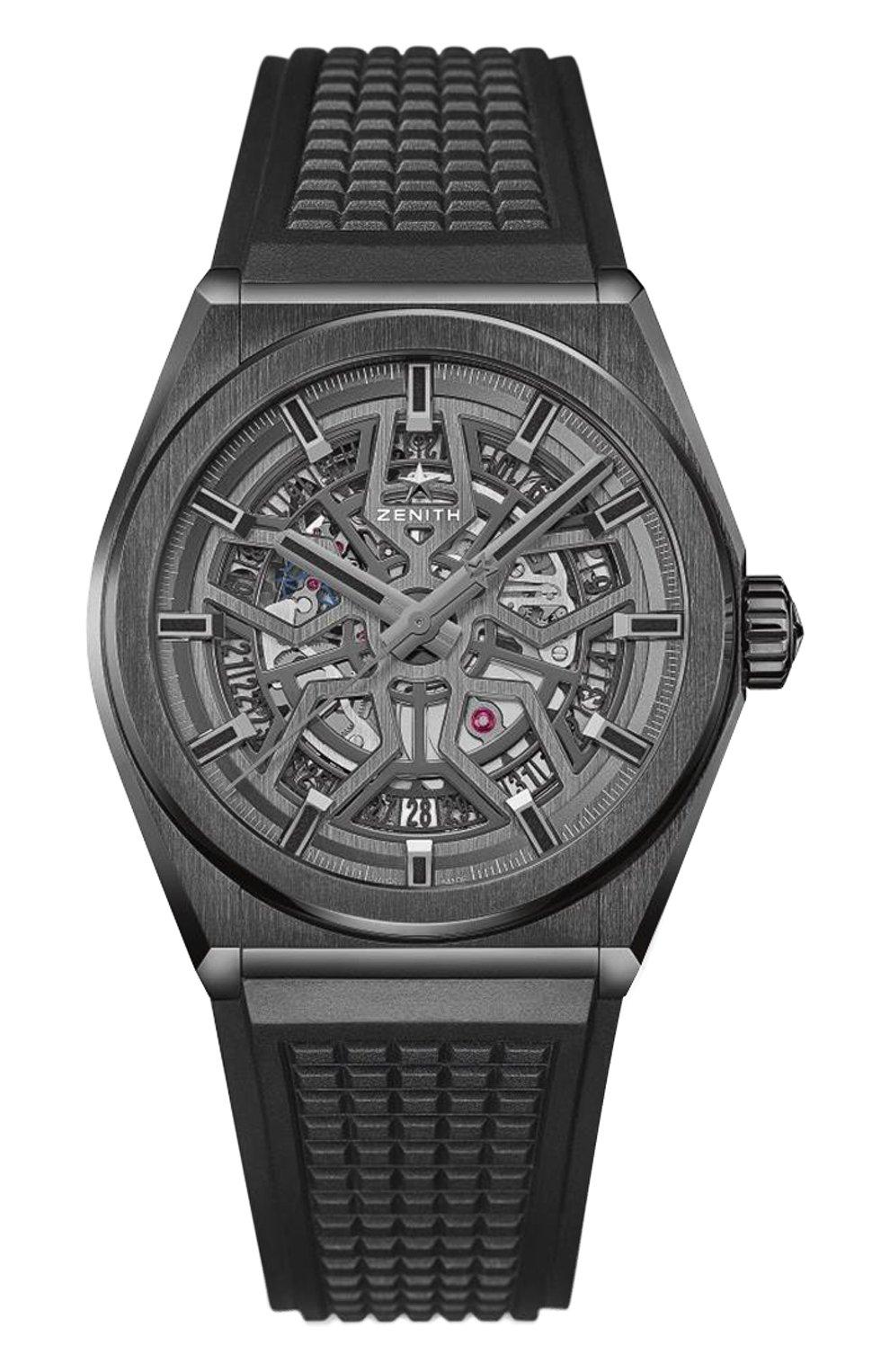 Мужские часы classic black ceramic ZENITH темно-серого цвета, арт. 49.9000.670/77.R | Фото 1