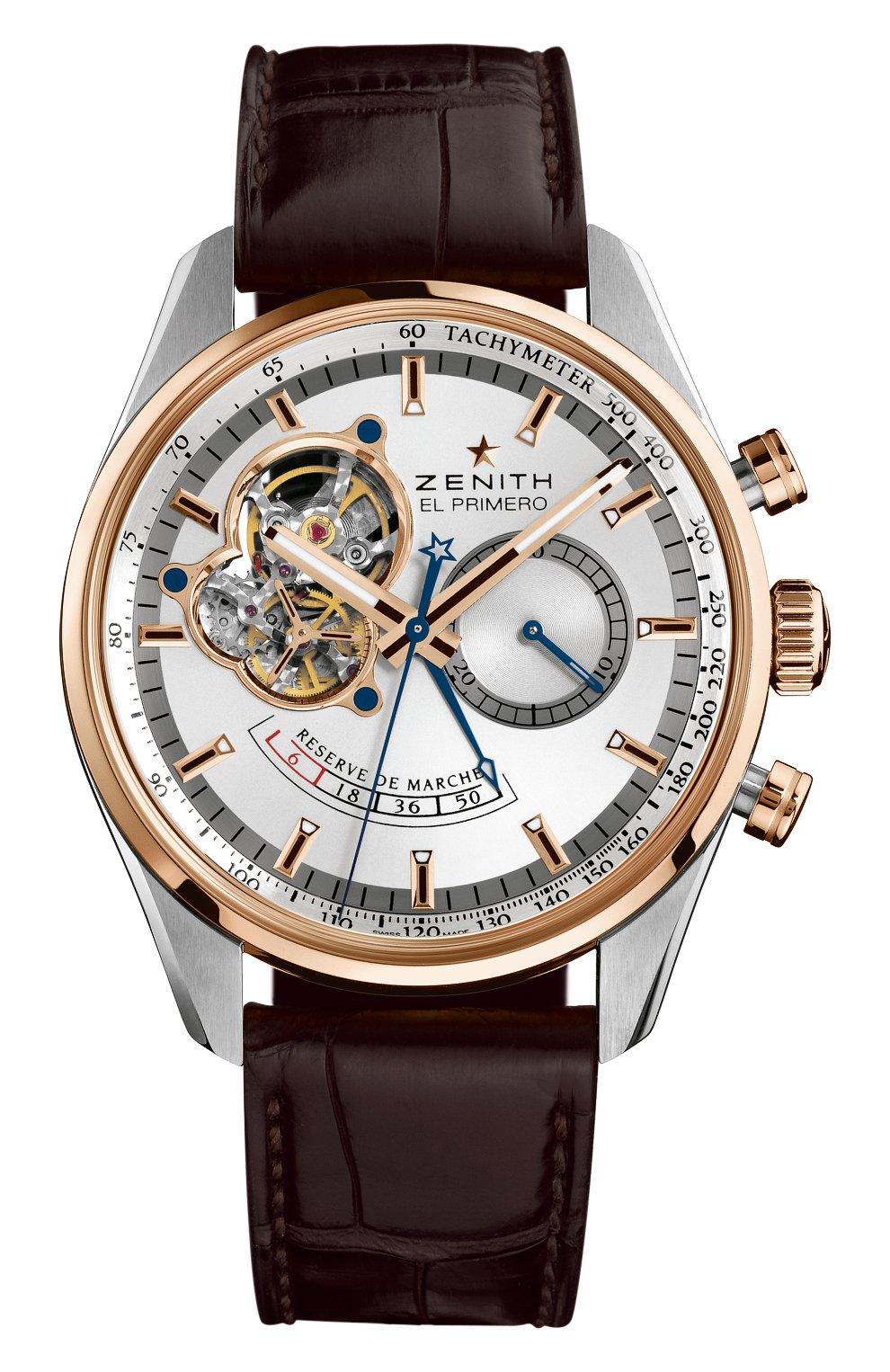 Мужские часы chronomaster open chronograph ZENITH серебряного цвета, арт. 51.2080.4021/01.C   Фото 1