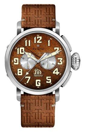 Мужские часы pilot type 20 chronograph trinidad ZENITH коричневого цвета, арт. 65.2430.4069/79.C811 | Фото 1