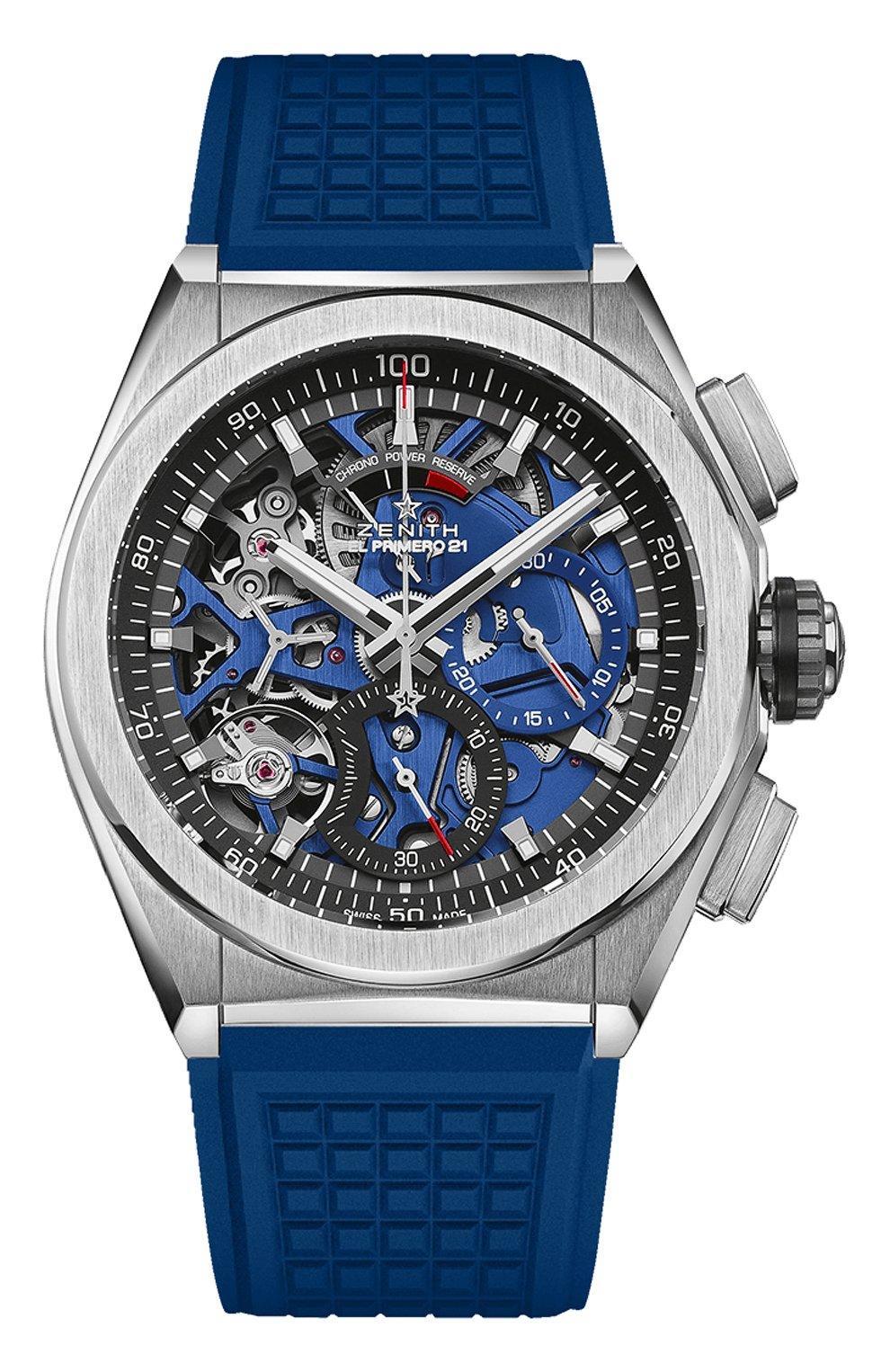 Мужские часы defy el primero 21 ZENITH синего цвета, арт. 95.9002.9004/78.R590 | Фото 1