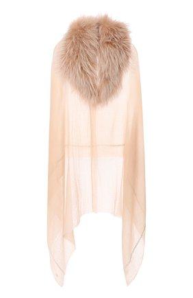 Женская кашемировая шаль VINTAGE SHADES бежевого цвета, арт. 13936 | Фото 1