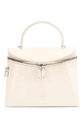 Женская сумка TOM FORD белого цвета, арт. L1291P-LCL056   Фото 1 (Материал: Натуральная кожа; Сумки-технические: Сумки top-handle, Сумки через плечо; Размер: medium)