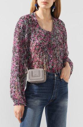 Женская сумка marcie CHLOÉ серого цвета, арт. CHC20UP503161   Фото 2