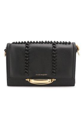 Женская сумка tall story ALEXANDER MCQUEEN черного цвета, арт. 619573/1T18T | Фото 1 (Размер: medium; Материал: Натуральная кожа; Сумки-технические: Сумки через плечо)