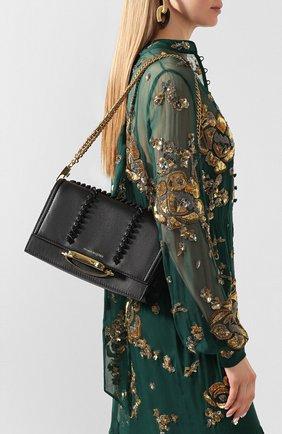 Женская сумка tall story ALEXANDER MCQUEEN черного цвета, арт. 619573/1T18T | Фото 2 (Размер: medium; Материал: Натуральная кожа; Сумки-технические: Сумки через плечо)