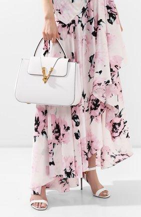 Женская сумка virtus VERSACE белого цвета, арт. DBFH006/D5VIT | Фото 2