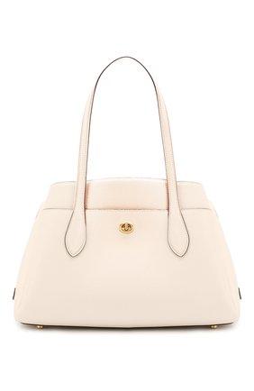 Женская сумка lora COACH белого цвета, арт. 88340 | Фото 1
