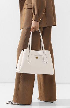 Женская сумка lora COACH белого цвета, арт. 88340 | Фото 2