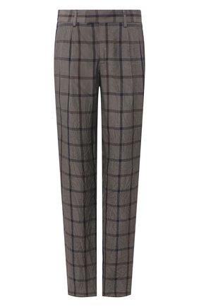 Мужской брюки из вискозы GIORGIO ARMANI темно-серого цвета, арт. 0SGPP0BF/T01K3 | Фото 1