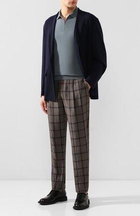Мужской брюки из вискозы GIORGIO ARMANI темно-серого цвета, арт. 0SGPP0BF/T01K3 | Фото 2