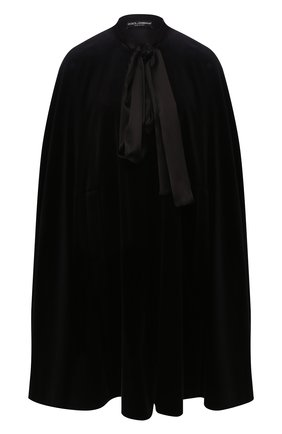 Женская накидка DOLCE & GABBANA черного цвета, арт. F0Z11T/FUVJZ | Фото 1