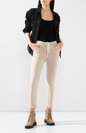 Женские брюки с отворотами PAIGE бежевого цвета, арт. 5659G42-8093 | Фото 2