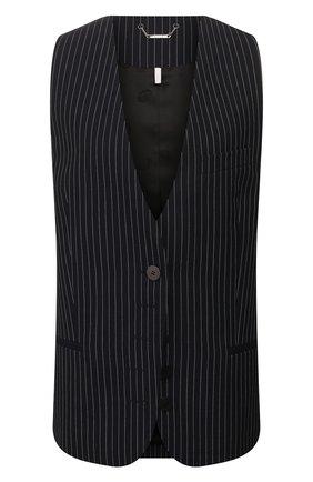 Женский шерстяной жилет CHLOÉ темно-синего цвета, арт. CHC20UGI03063 | Фото 1